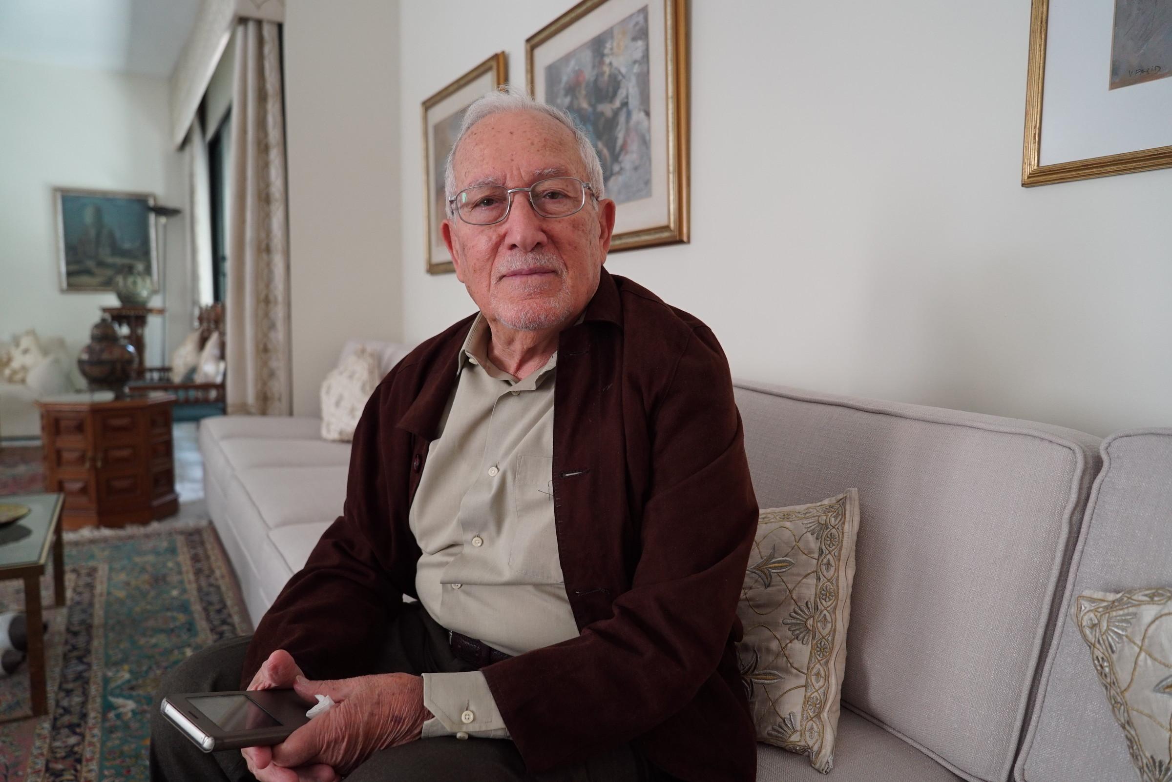 Wael Abdo ِِal-Sajdi, 88, Amman. Originally from Jerusalem.