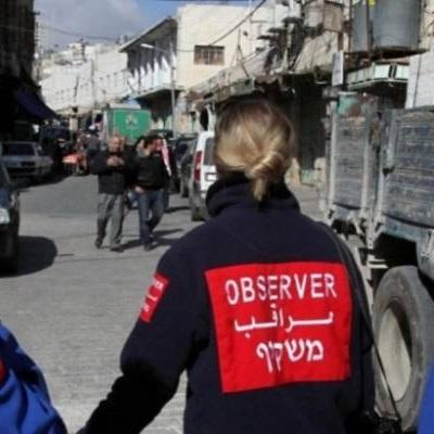 International observer in Hebron.