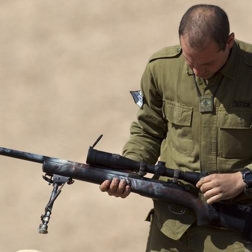 Israeli snipers at Gaza border.