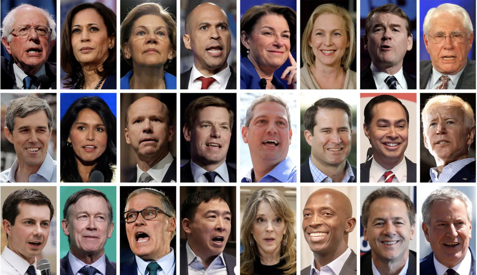 Twenty-four candidates crowd the field for the 2020 Democratic presidential nomination.. (Reuters)