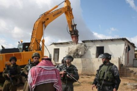 October 2017: Israeli soldiers demolished 4 houses in Hebron belonging to the Hazaleen family, rendering 30 people homeless.