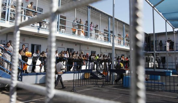 Holot Detention Center, which will be closed in March 2018 to free up funds for deporting more people, according to Netanyahu.
