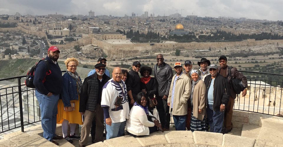 Lott Carey President Alyn Waller, pastor of Enon Tabernacle Baptist Church in Philadelphia, led a delegation of 16 African-American ministers on a pilgrimage to occupied Palestine in 2017. (World Council of Churches photo by Yusef Daher)