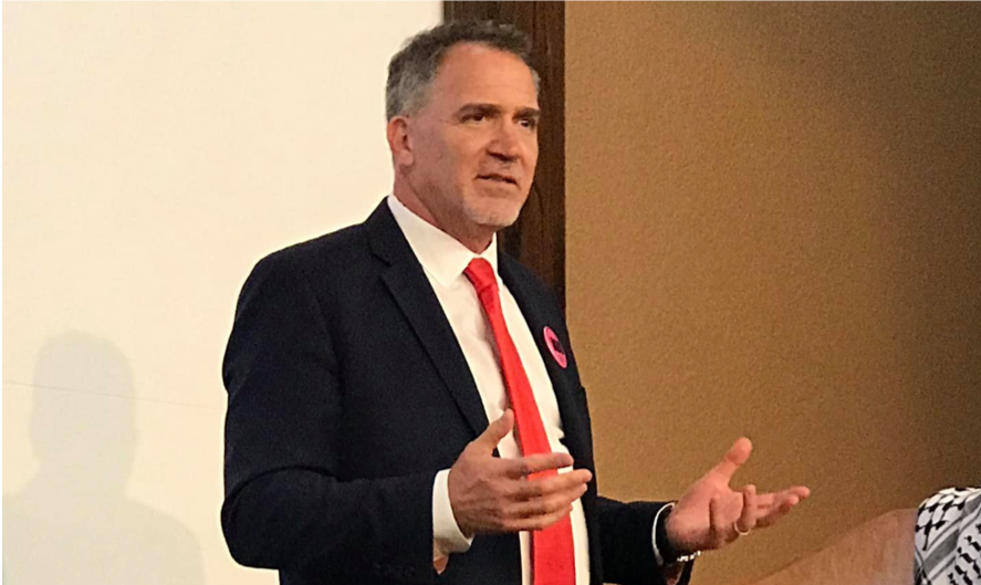 Miko Peled, speaking at the University of Illinois-Chicago campus in Rockford IL, August 3, 2019