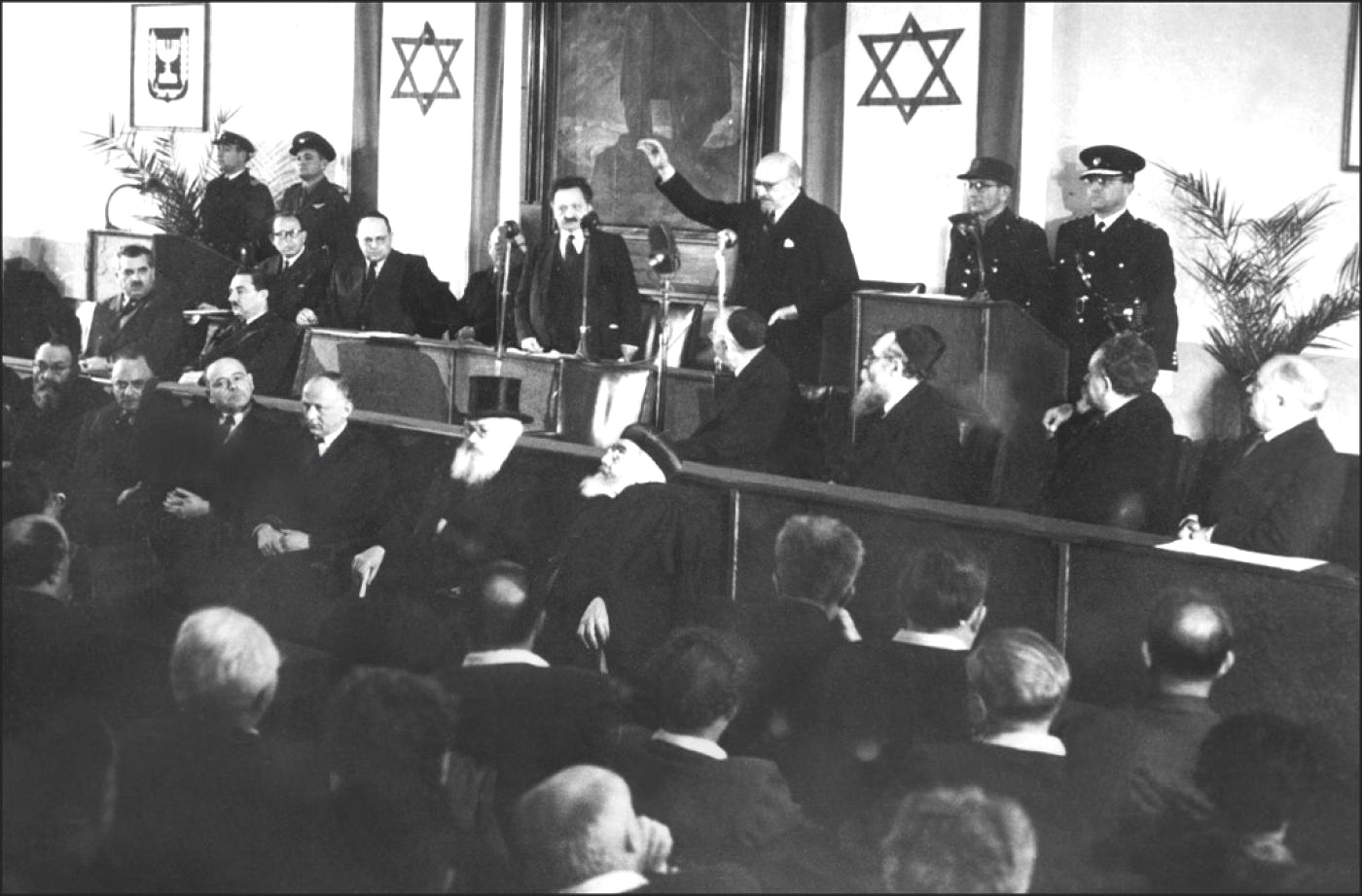 Chaim Weizmann is sworn in after being elected as Israel's first president in 1949 (AFP)
