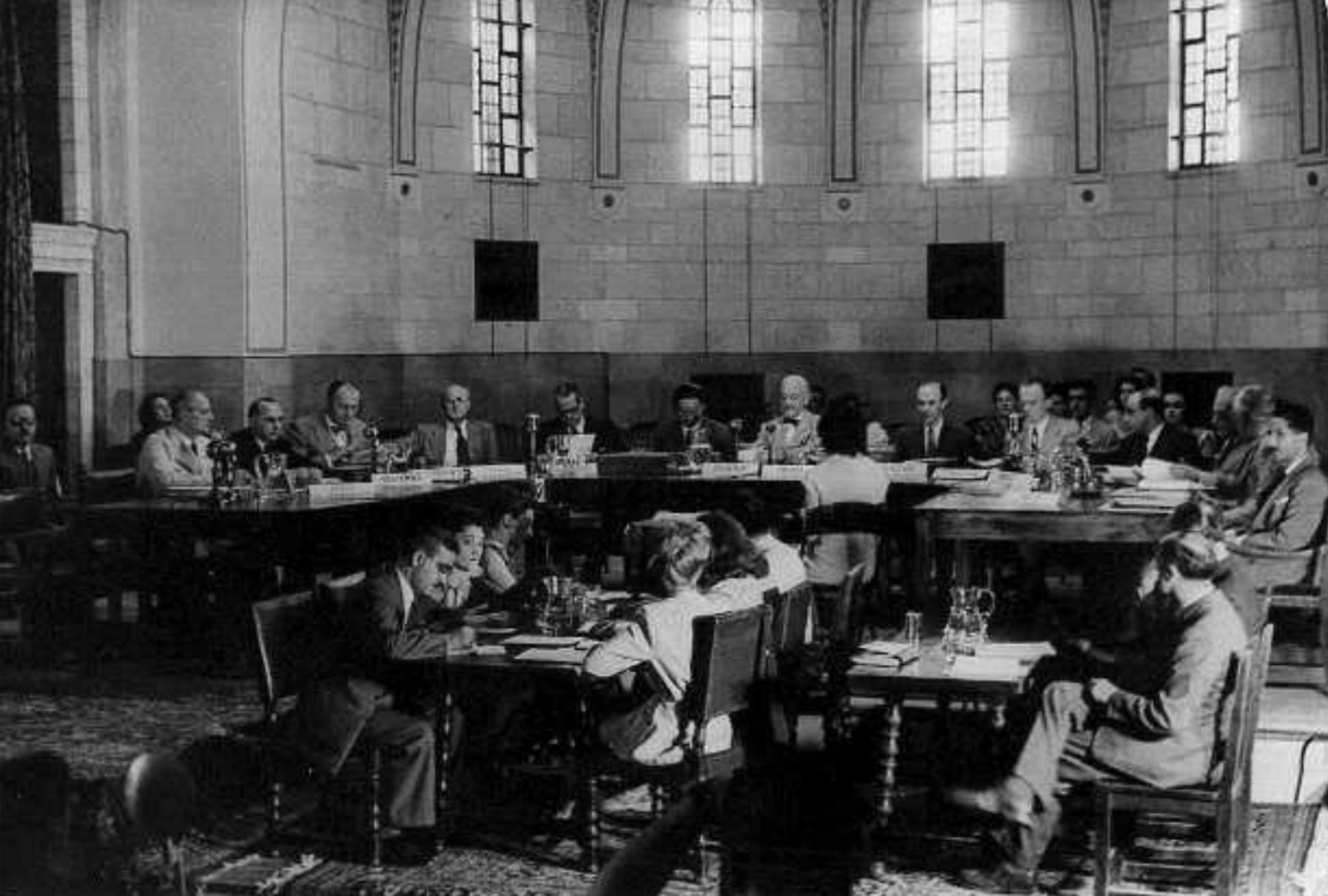 The UNSCOP Committee carrying out its work, YMCA Building, Jerusalem (PHG\1085487)
