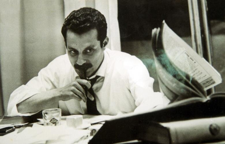 Palestinian author and intellectual Ghassan Kanafani was killed in Beirut in 1972 by a car bomb that was believed to have been planted by Israeli agents. (PHOTO: Al Akhbar English)