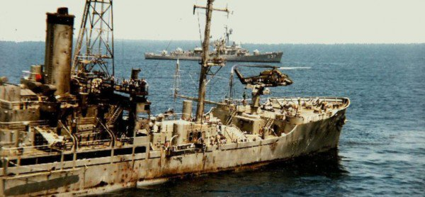The Liberty was a Navy electronics surveillance ship operating in international waters during the Six-Day War. Israeli forces perpetrated an extended air and sea assault on the ship.