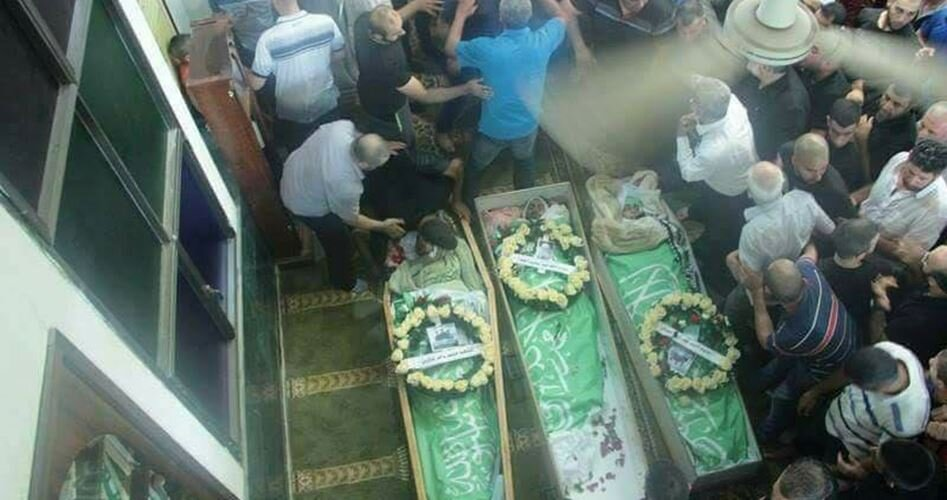 Funeral for the three young martyrs.