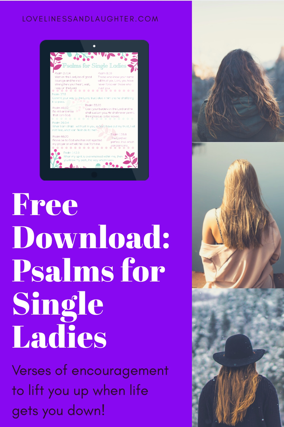 free download verses to encourage single women