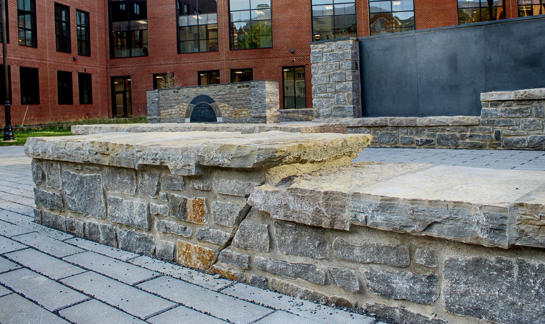 Geologic Seat Wall