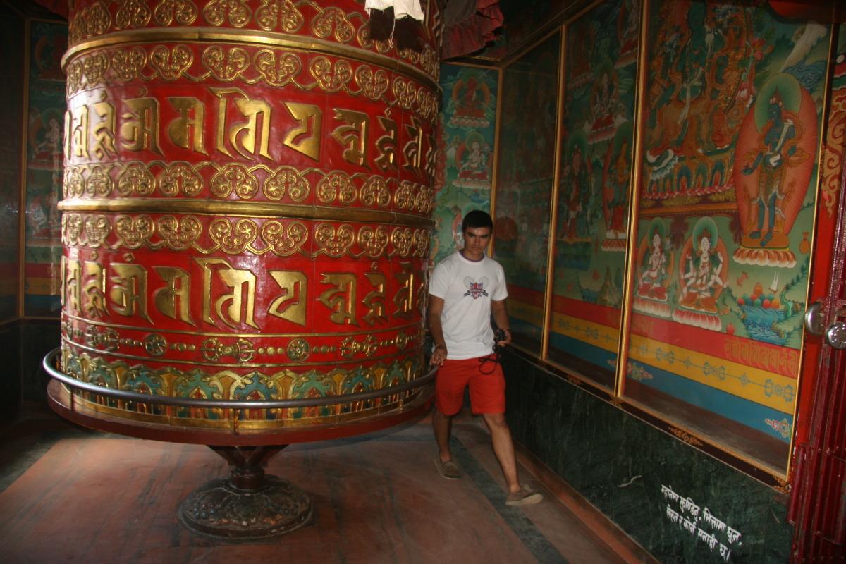 Anthony and prayer wheel