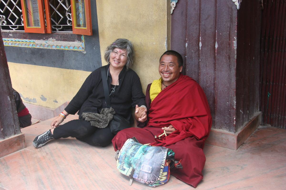 Marie and Tibetan monk