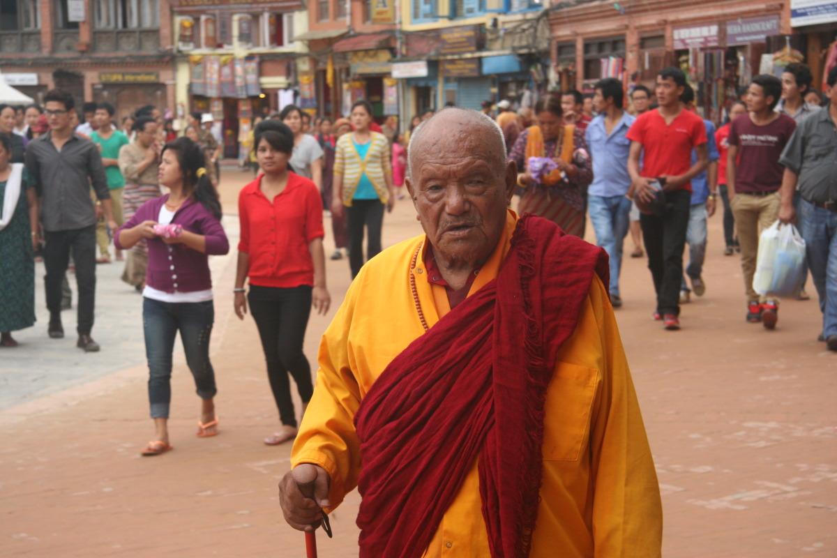 Tibetan man during kura