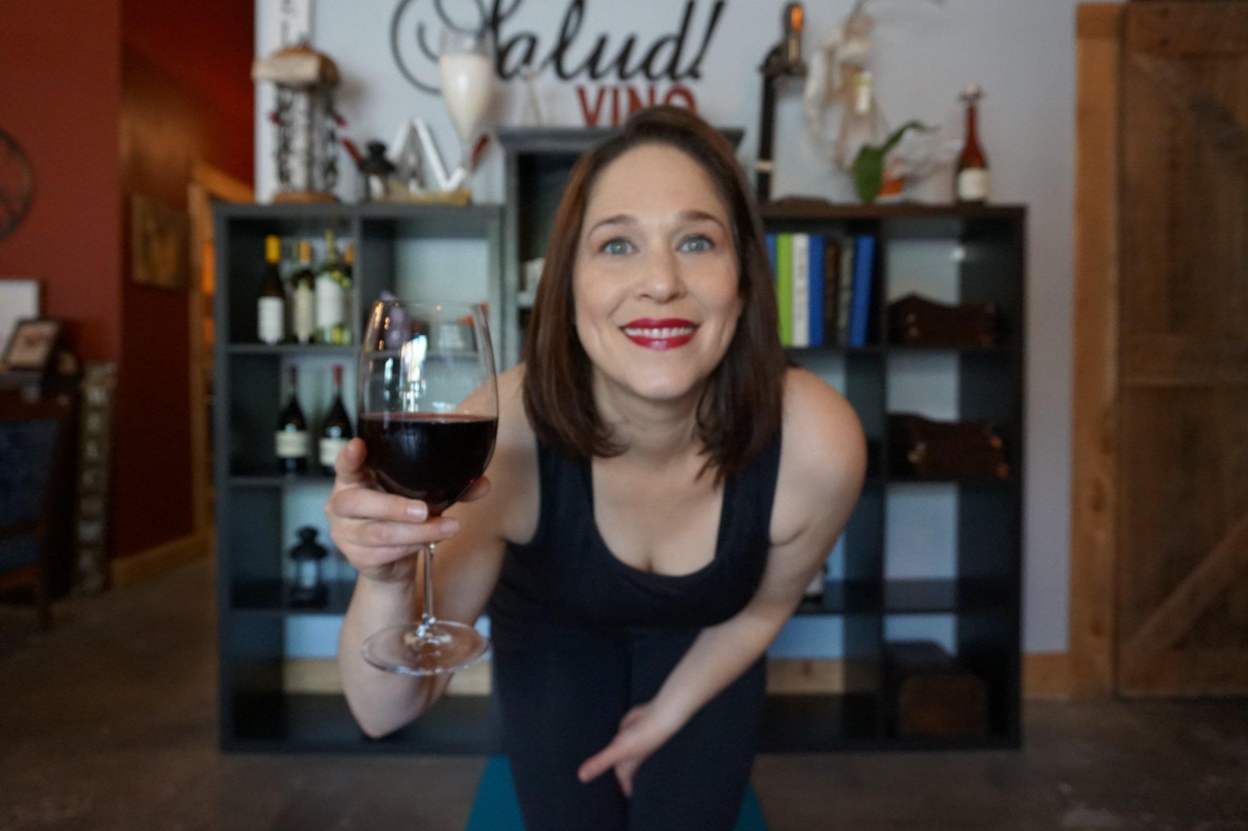 wine and yoga, vino and vinyasa, camas, vancouver wa, salud wine bar
