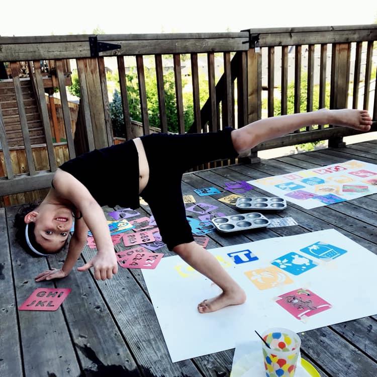 Art and Yoga, erika levy, kids yoga, little yogini
