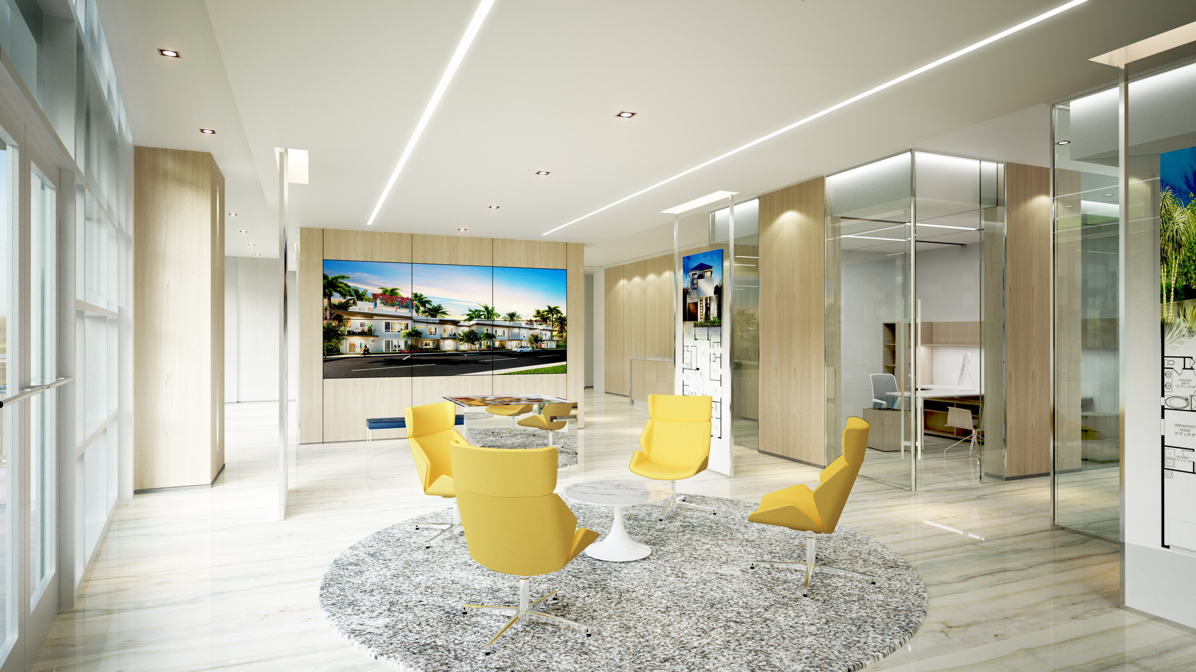 THE RESIDENCE SALES CENTER LOBBY