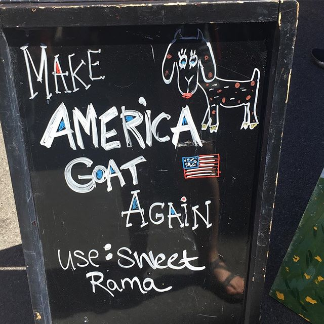 #MakeAmericaGoat 🤣 . How would YOU #fillintheblank ? . Come #create with us! #MakeAmericaProject Artist Residency program is open for applications ➡️ . #Hittheroad with us - Find the app at makeamericaproject.com . . . . #homeland #makers #lovefortheopenroad