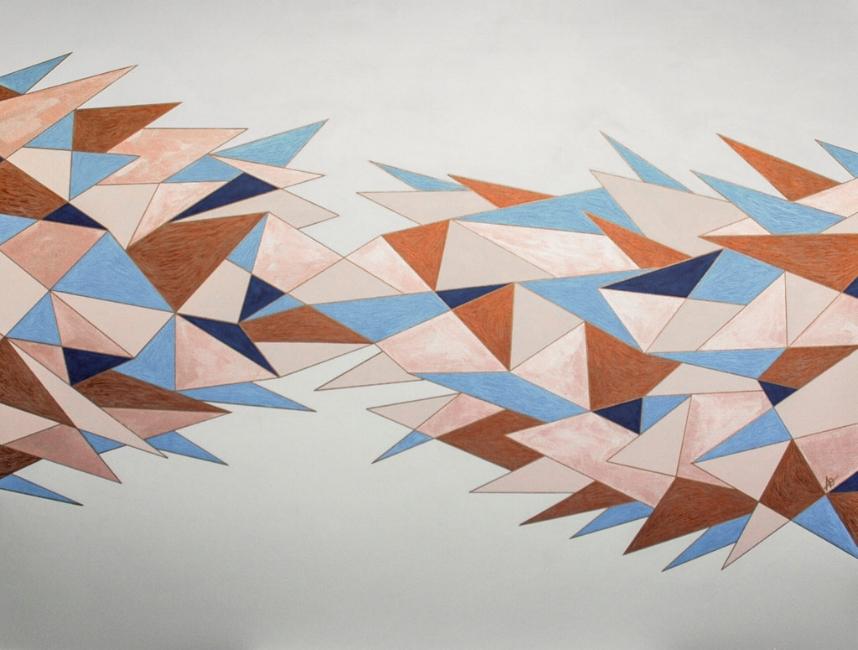 "INTO SHARP    acrylic on canvas    Size: 36"" x 48"""