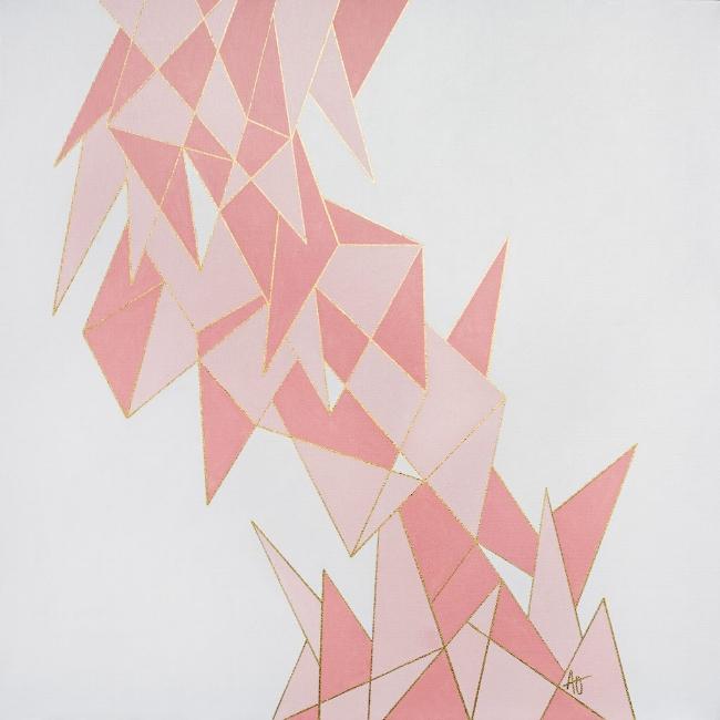 "SHARP PIGLET    acrylic on canvas    Size:  24"" x 24"""