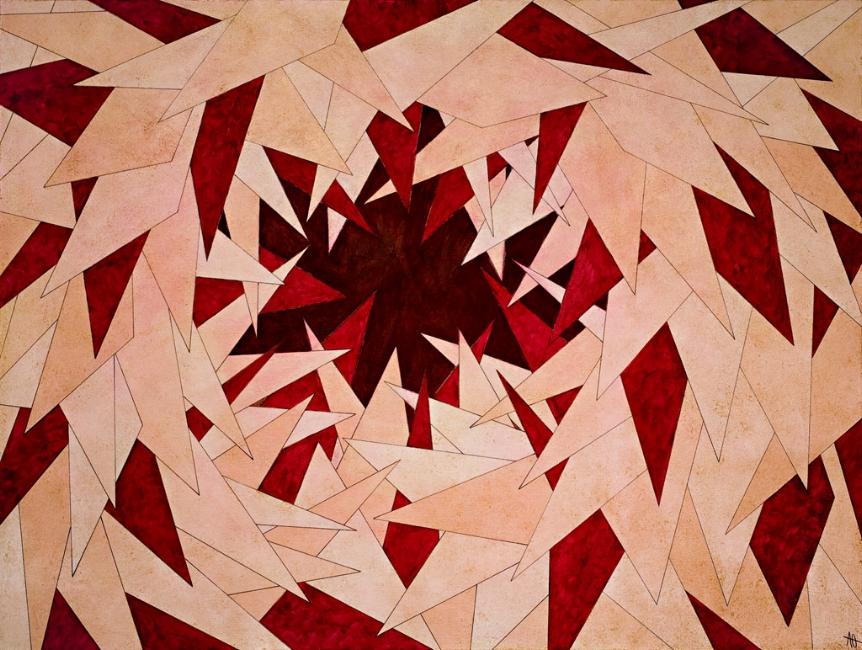 "INTO THE HEART    acrylic on canvas    Size:  36"" x 48"""
