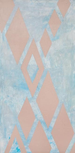 """AZTEC    acrylic on canvas    Size:  24"""" x 48"""""""