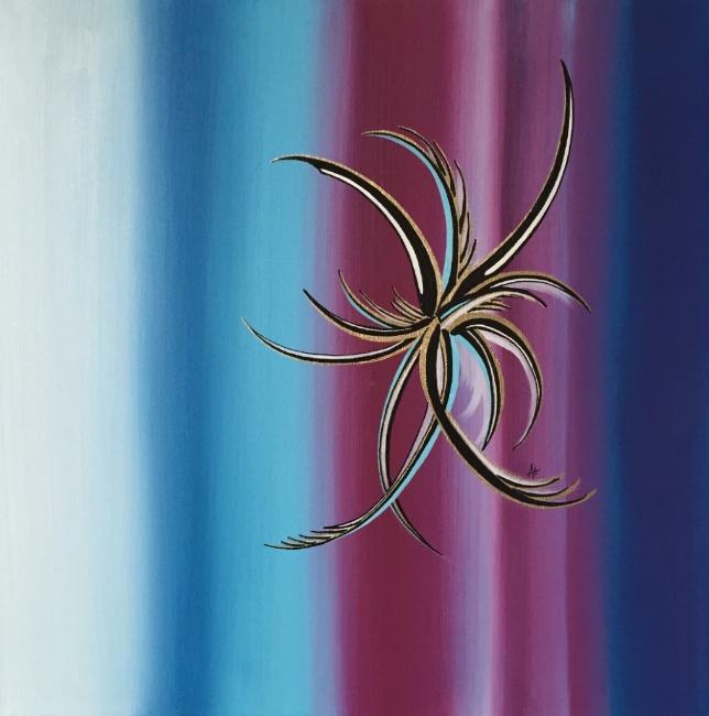 "GRACE    oil on canvas    Size:  18"" x 18"""