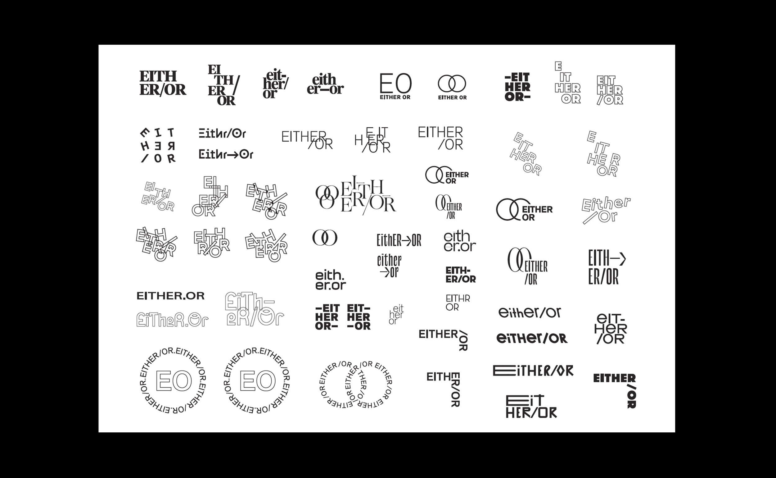 EITHER/OR : LOGO PROCESS