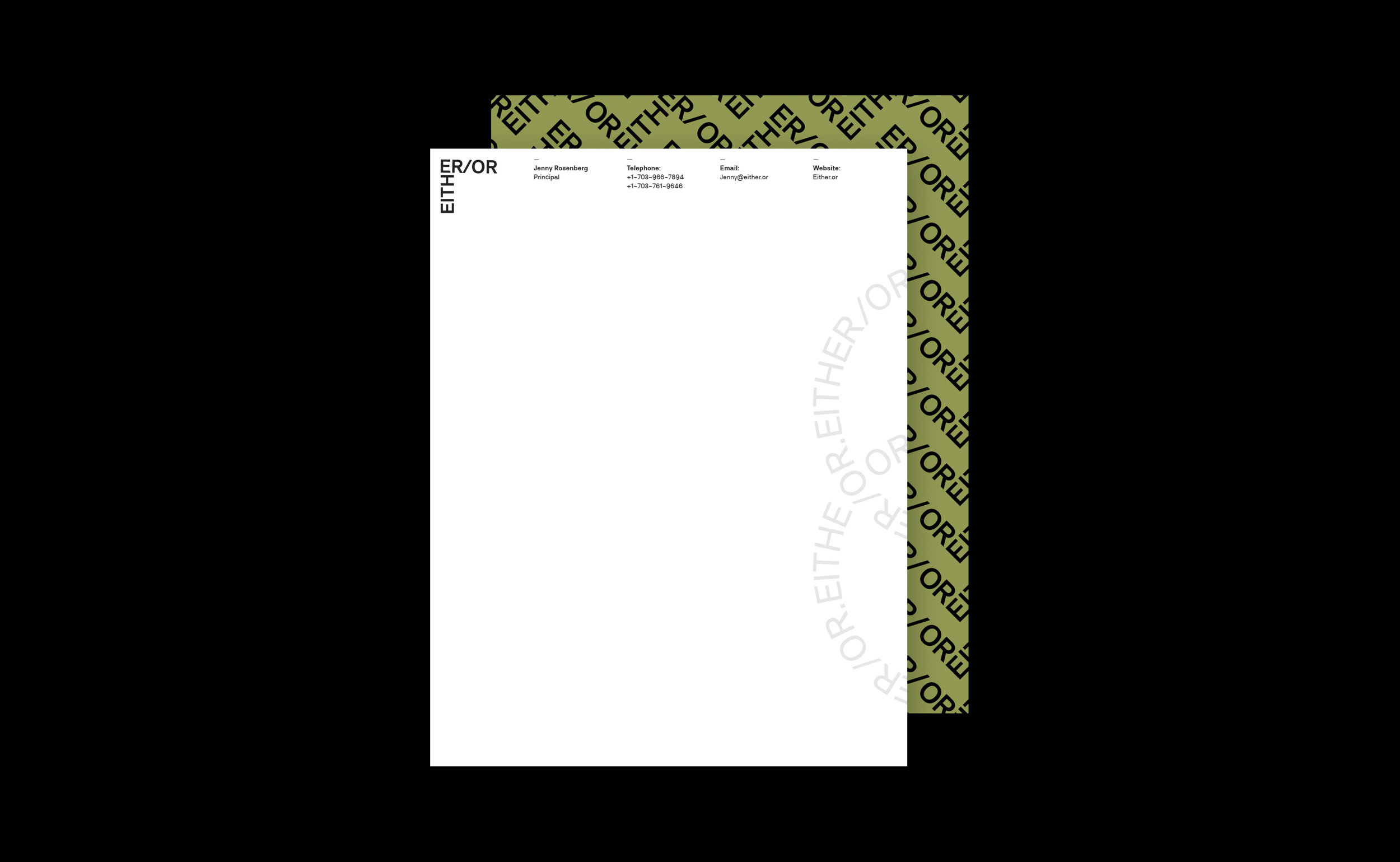 EITHER/OR : APPLICATION 2 : LETTERHEAD