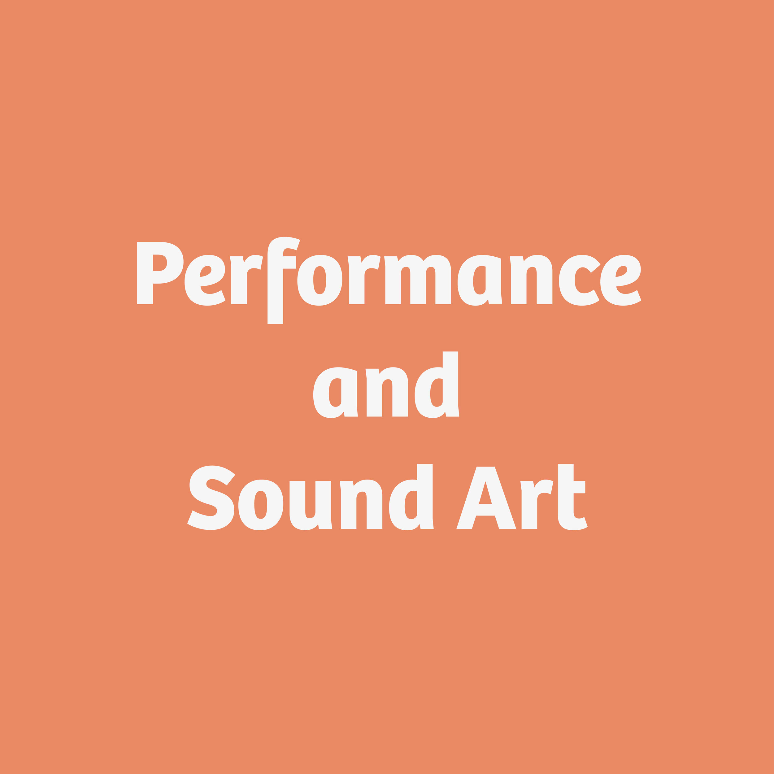 Performance and Sound Art button