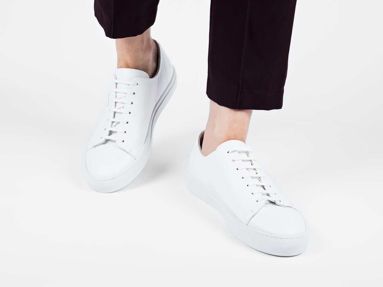 5 Pairs of Women's White Sneakers that