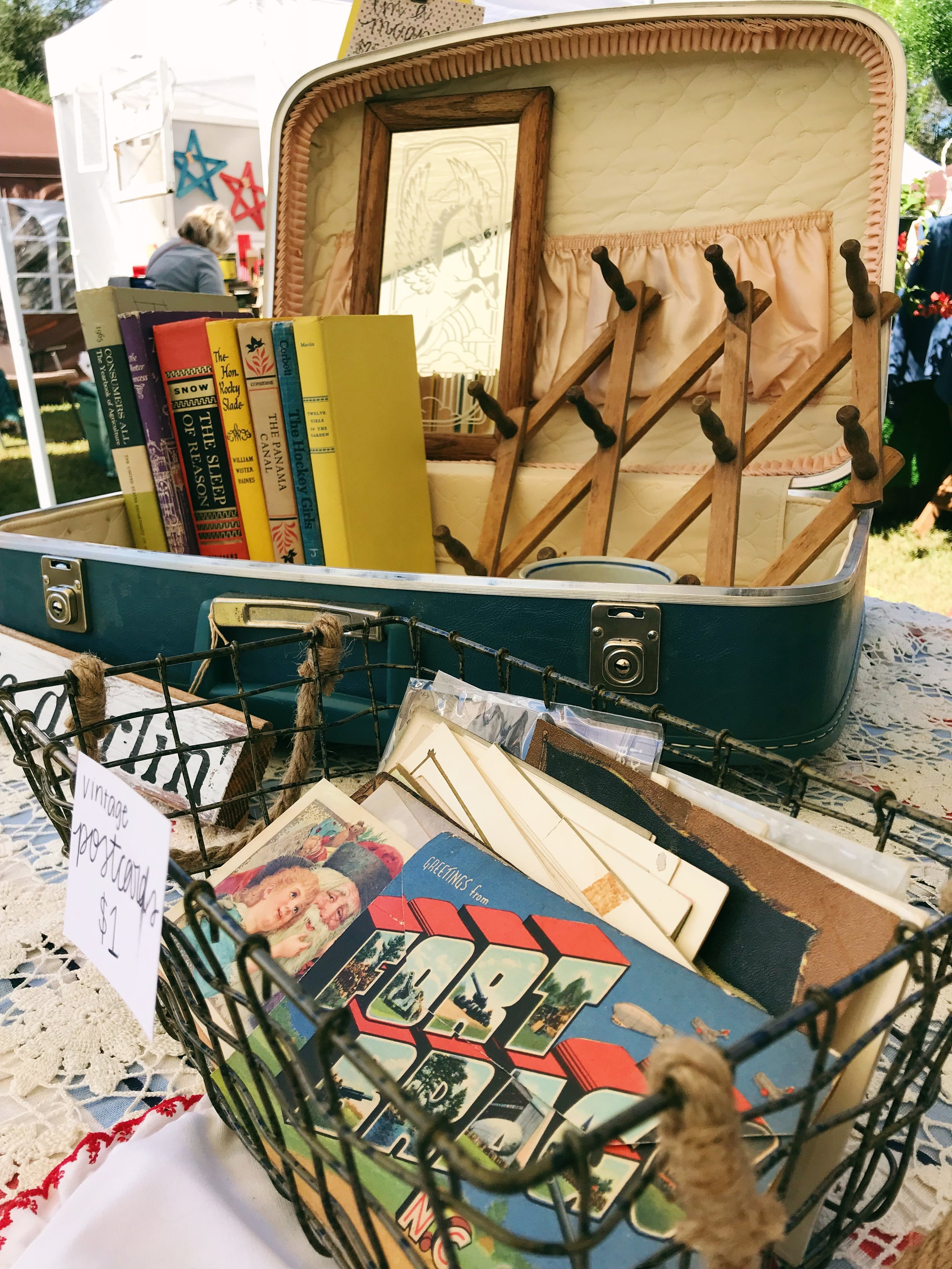 powell and co vintage market booth