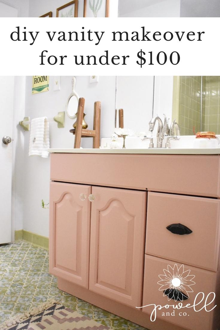 DIY Bathroom Vanity Makeover for Under $100