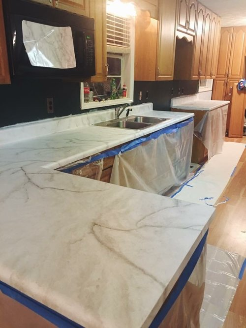 Faux Diy Marble Countertops For Under