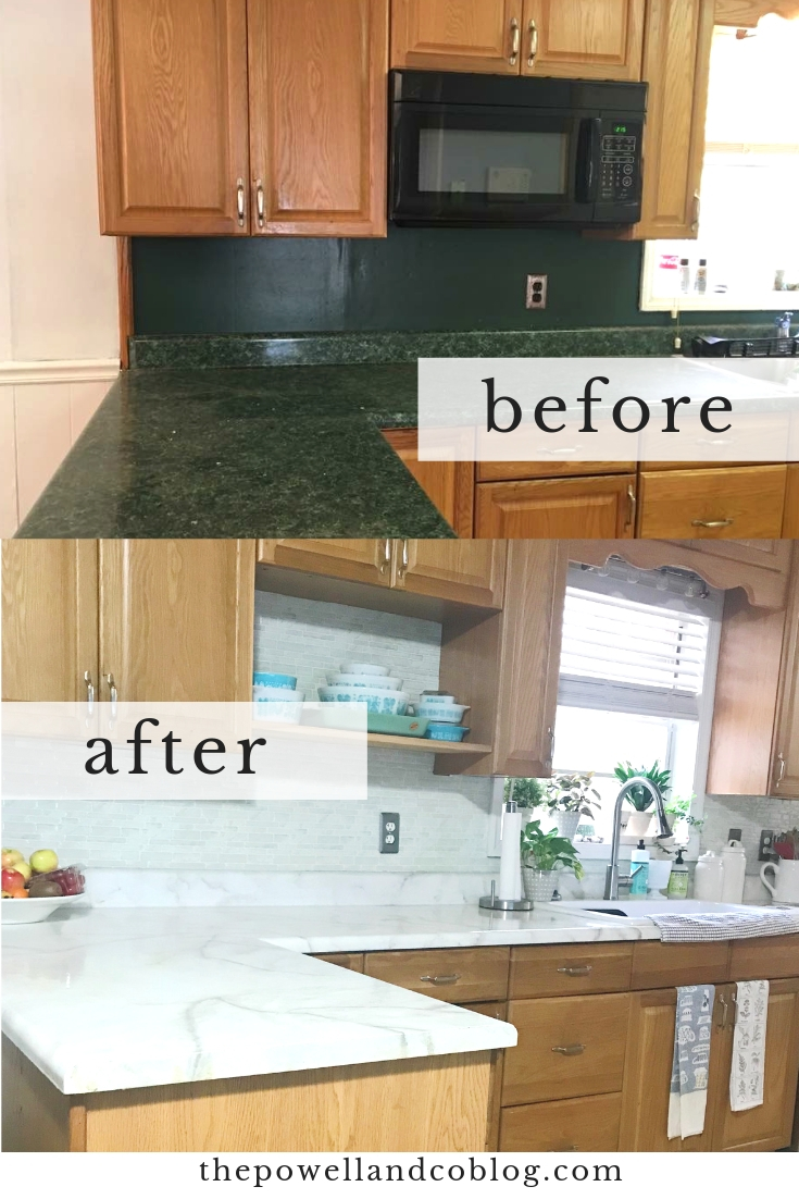 Faux Diy Marble Countertops For Under 100 Sarah Powell