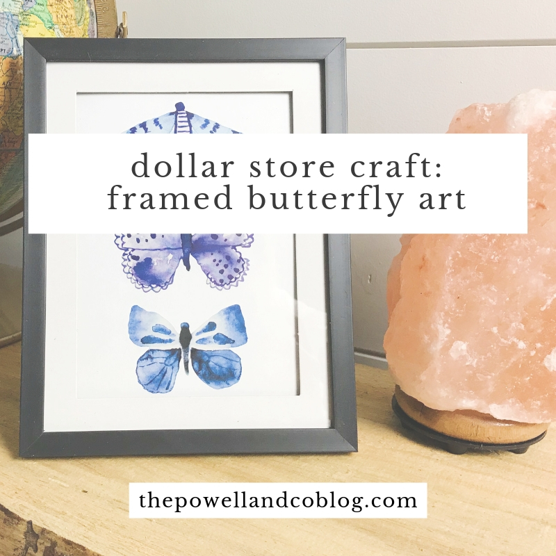 dollar store craft: easy diy framed butterfly art