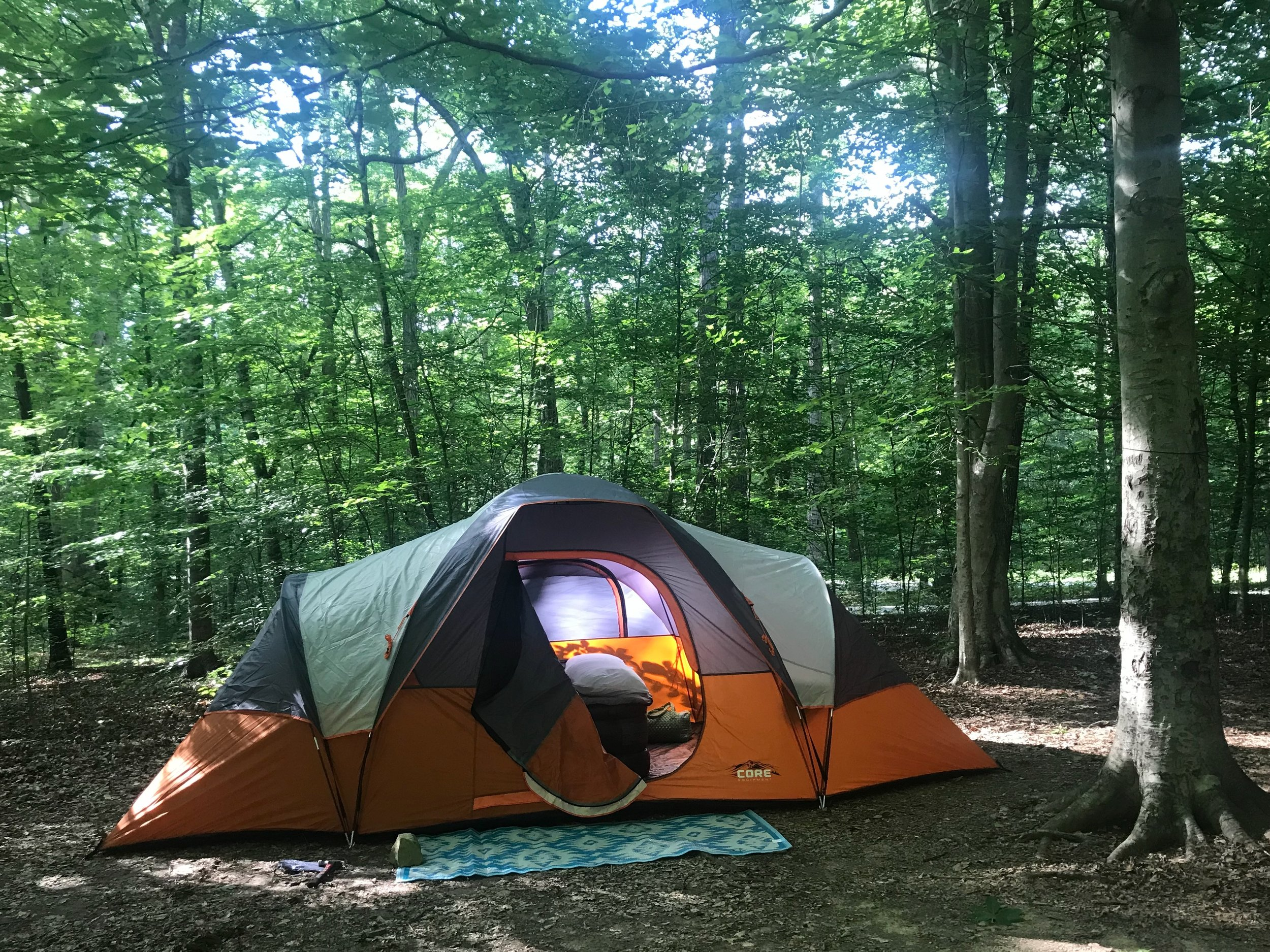 tent camping in mammoth cave kentucky