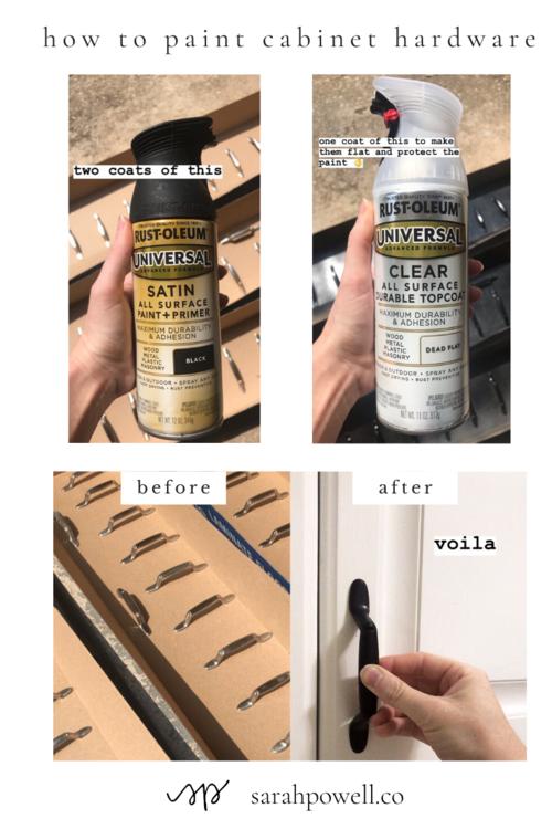 To Spray Paint Cabinet Hardware, Rustoleum Spray Paint On Kitchen Cabinets