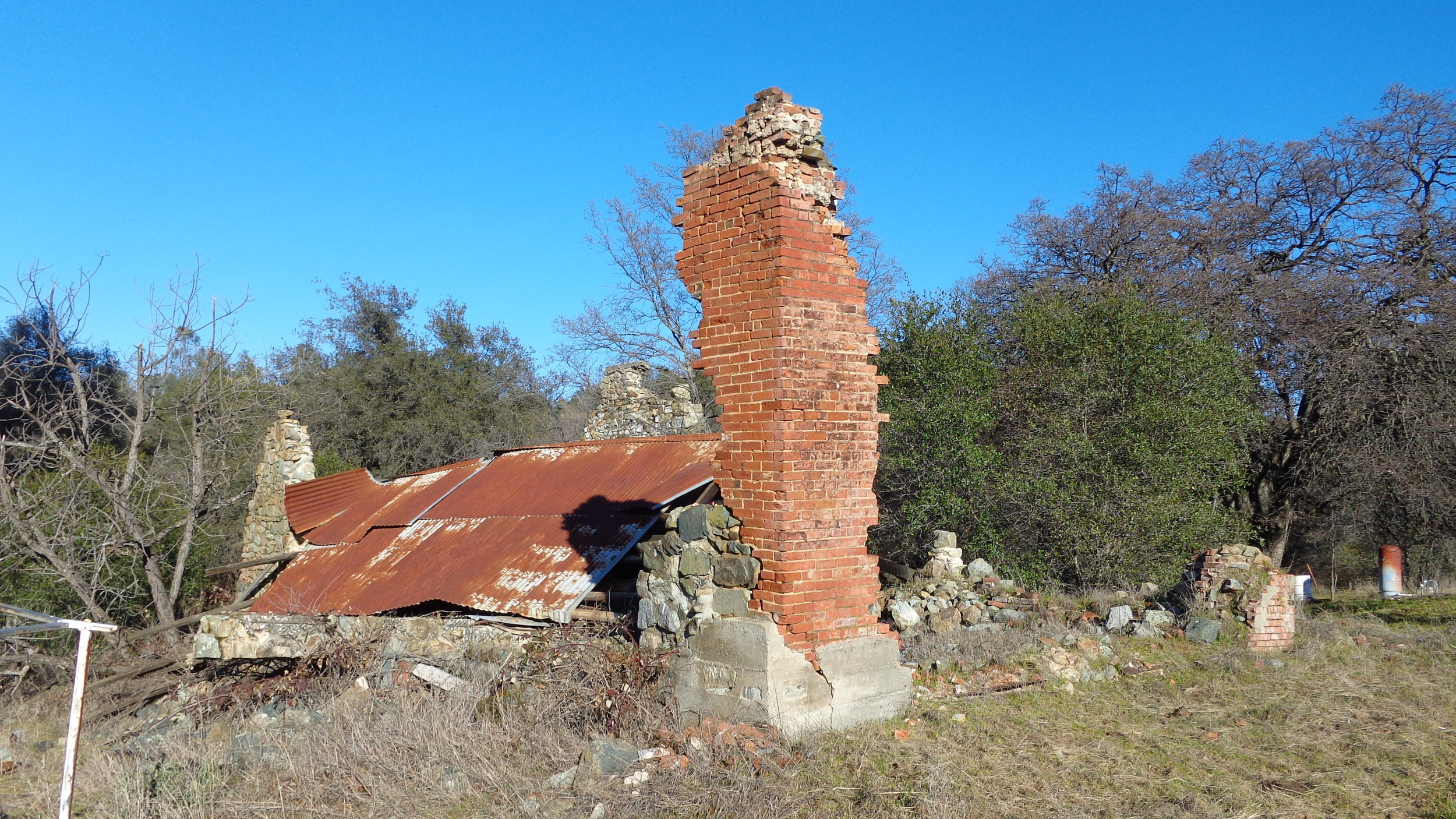 The Wells Fargo building ruins at Timbuctoo, California, in January, 2017. (Photo by Lane Parker)