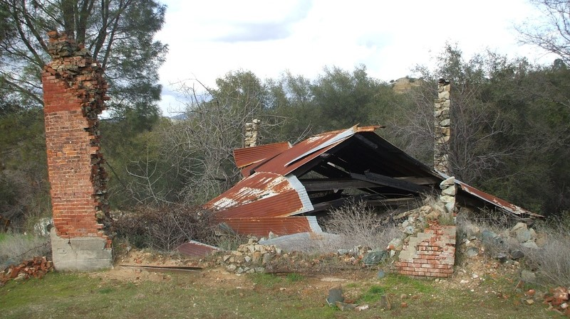 The Wells Fargo building ruins at Timbuctoo, California, in February, 2007. (Photo by Lane Parker)