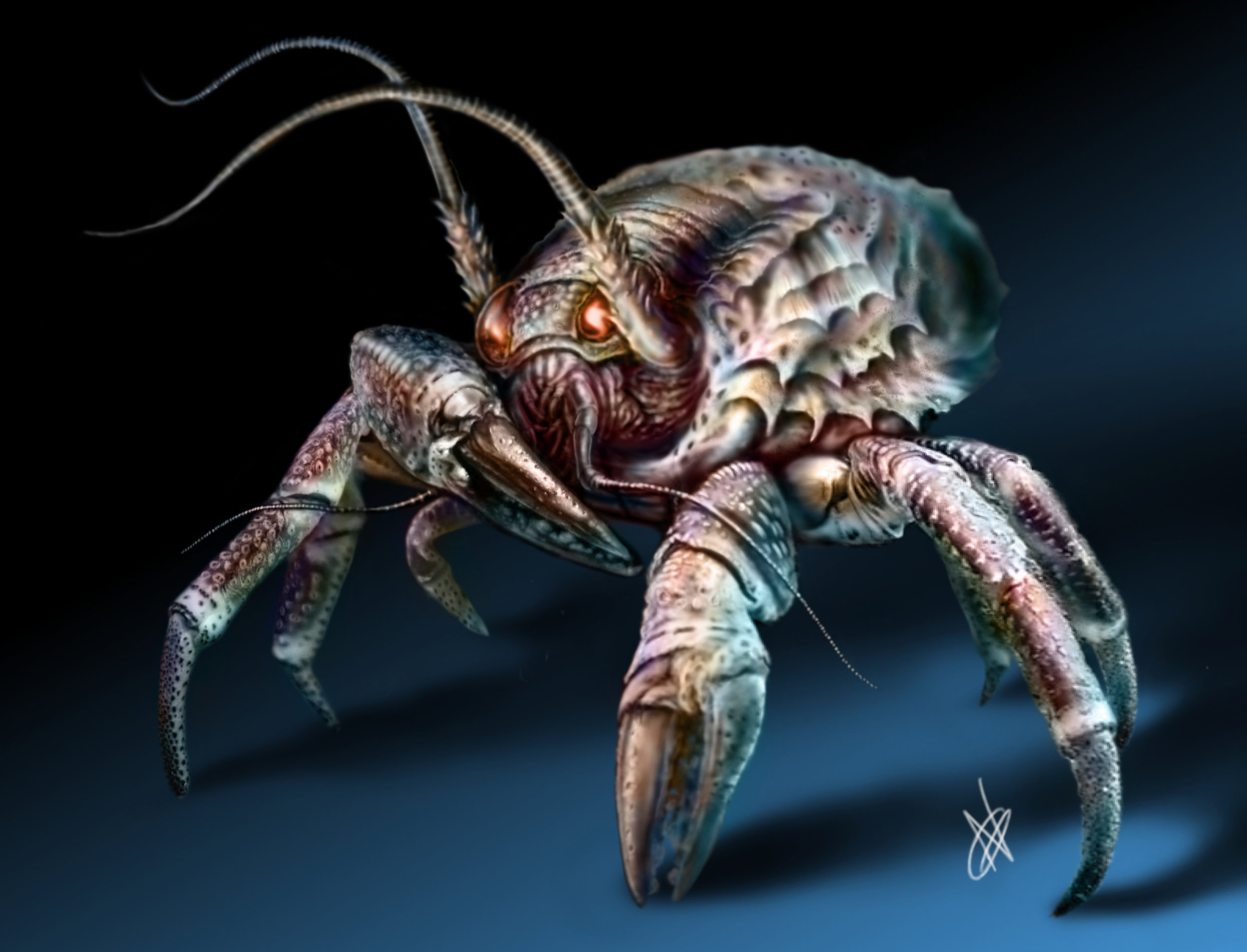 A crab-like critter, inspired by all the things that are so creepy they're cute. Just me?