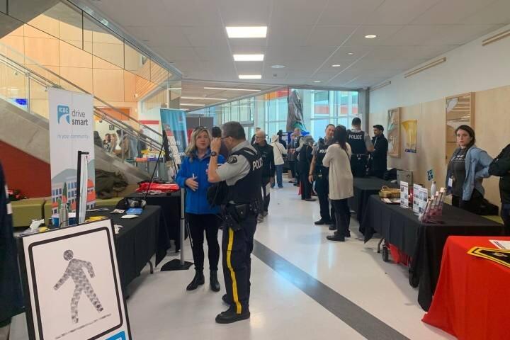Surrey RCMP were in Clayton Heights Saturday for a Public Safety Fair.   Robyn Crawford/ Global News