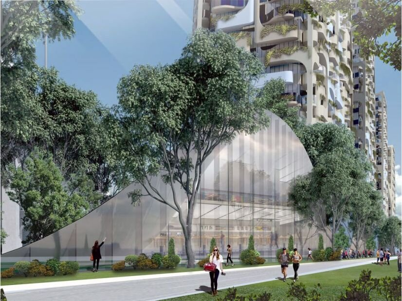 An artist's rendering of the 6,000-unit Senakw development proposed for Squamish First Nation lands in Kitsilano adjacent to the Burrard Bridge.  REVERY ARCHITECTURE / PNG