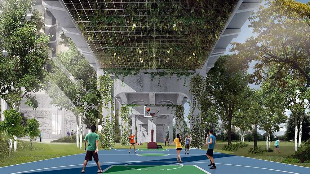 The design for Senakw incorporates the areas beneath the bridge.  SUBMITTED / REVERY ARCHITECTURE