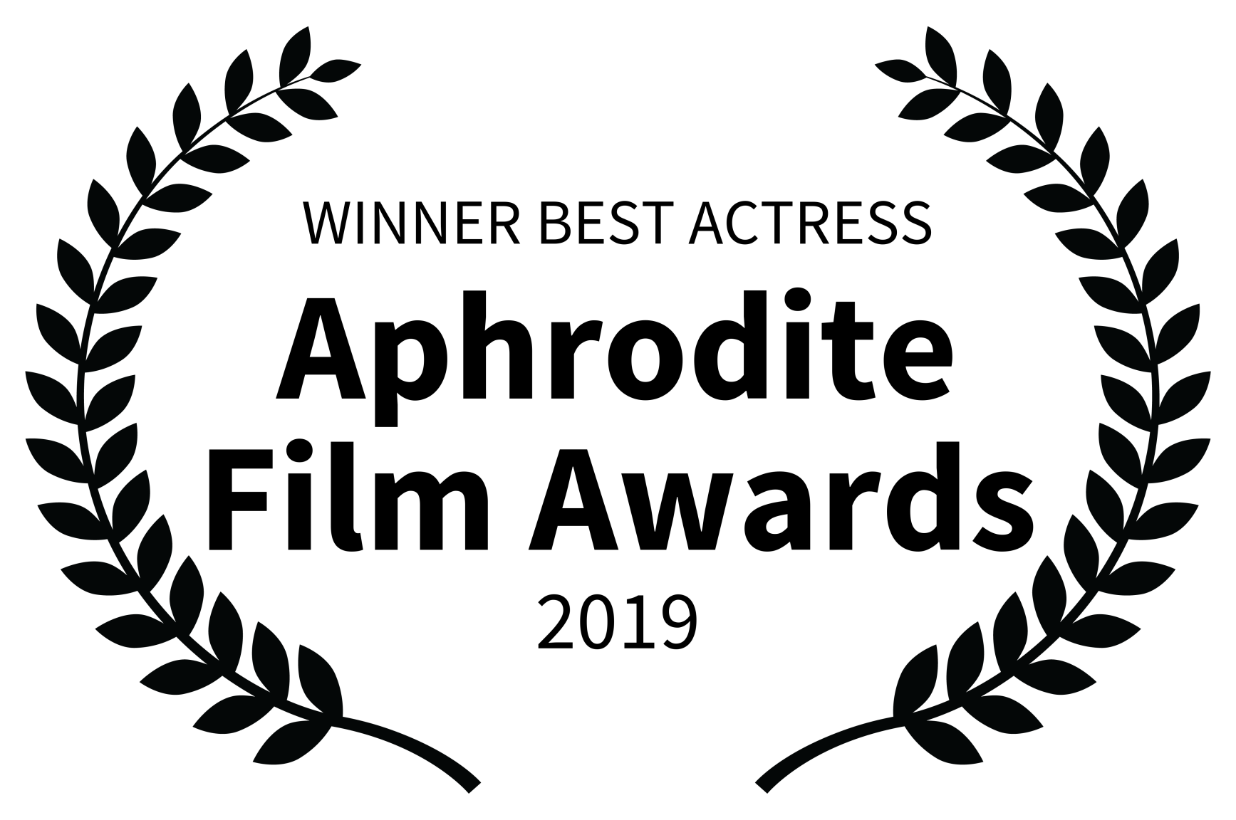 WINNER BEST ACTRESS - Aphrodite Film Awards - 2019 BLACK TEXT.png