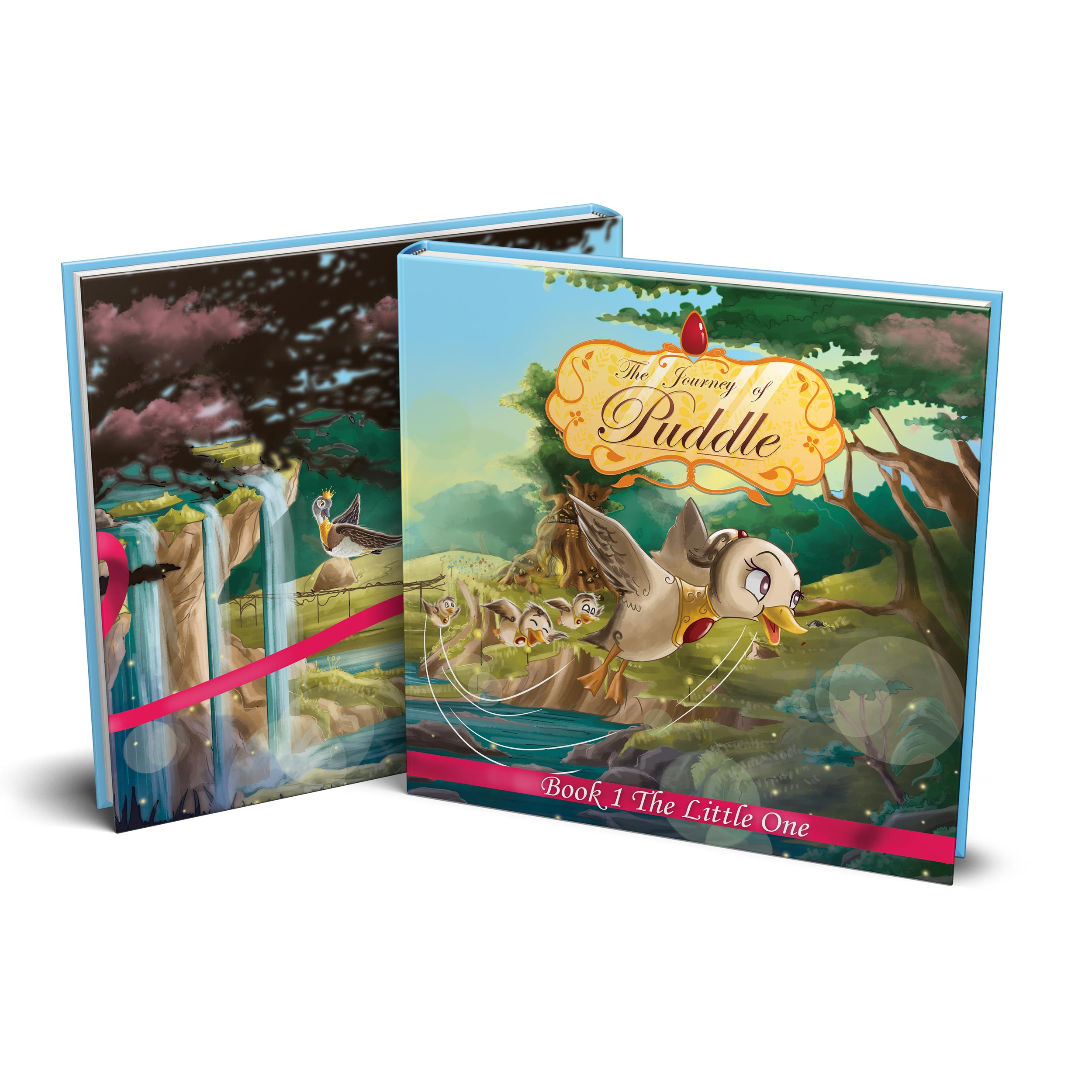 Book 1: The Little One - Puddle's extraordinary journey begins in her small home of Duckville near the edge of the Land of Creation. Puddle lives an ordinary life where her parents, King Rupert and Queen Sarafine, guide Puddle during her younger years. Her curious nature ignites a series of events that will lead to the discovery of her special gift of flight, a plot by Virus to take over the kingdom, and open up a world where her story is bound to everyone around her.How will Puddle's faith guide her through her discovery?What will Puddle do with her newfound gift?