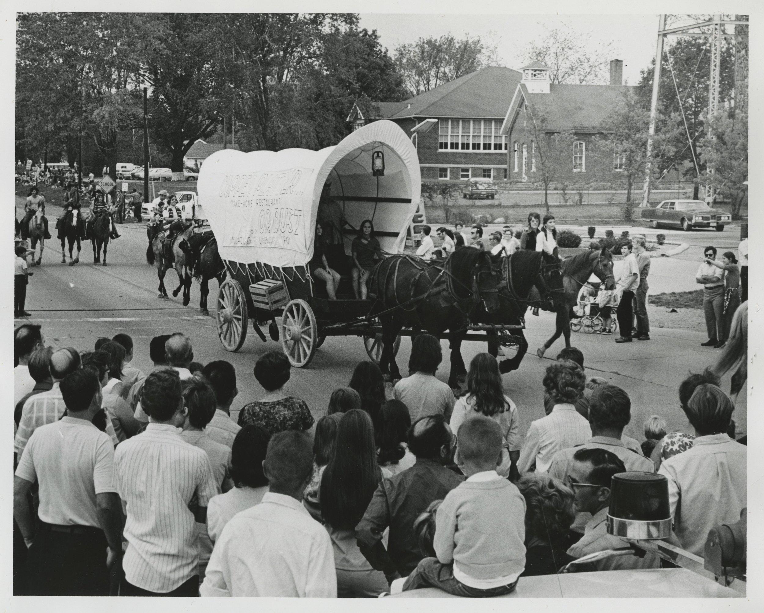 Parade Horse Drawn Wagon.