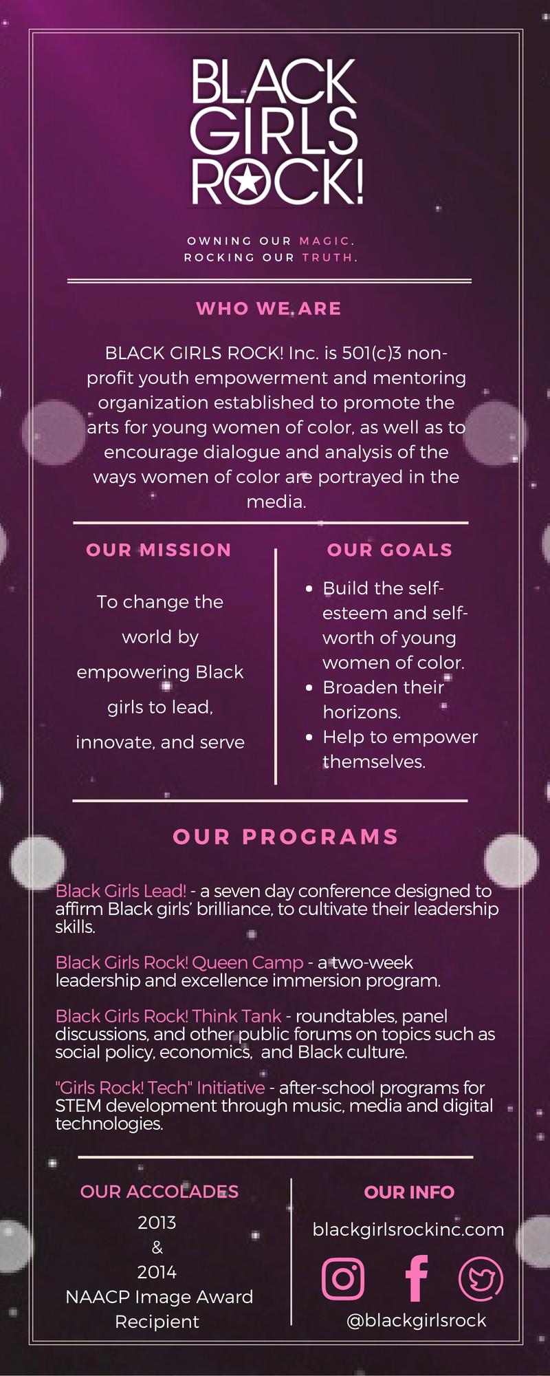 Black Girls Rock! Infographic