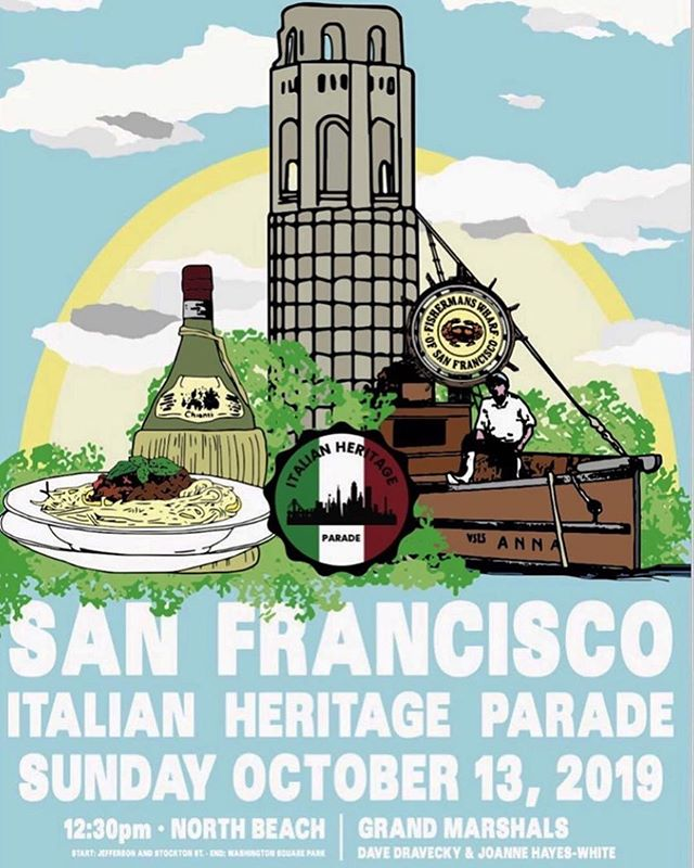 Everyday is special at Gino and Carlo but this one is our favorite. The Italian heritage parade is this Sunday, October 13th 🙏 come enjoy the festivities and celebrate with us at good old 548 Green St. 🇮🇹 #centanni #northbeachsf #italianheritage