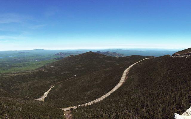 June 2019. & October 2018. Top of of Whiteface mountain. . . . #whitefacemountain #adk #adirondacks #summer #fall #sidebyside